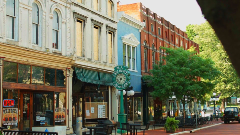 Downtown Frankfort street view