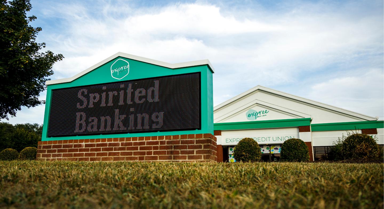 Spirited Banking Sign