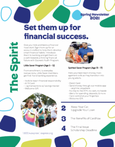 Spring Newsletter 2021 Page 1